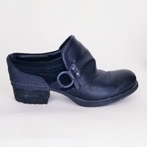 Merrell 7 Black Suede Leather Clog